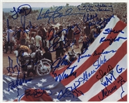 Woodstock 69 Photograph Signed by 18 Performers