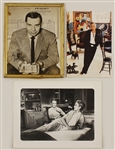 "Original Hollywood Archive: Jack Webb Signed Photograph, Tony Curtis Invitation and ""Rear Window"" Photographs"