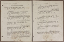 Johnny Cash Handwritten Religious Writings