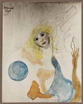Stevie Nicks Original Artwork From the Herbert Worthington Estate