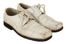 Elvis Presley 1950's Stage Worn White Buck Dress Shoes