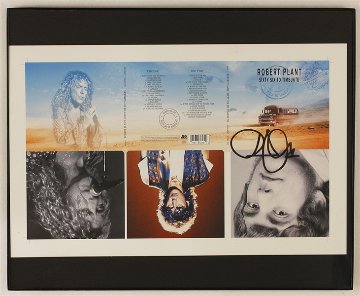 lot detail robert plant signed sixty six to timbuktu original album slick. Black Bedroom Furniture Sets. Home Design Ideas