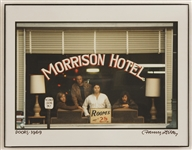 "The Doors ""Morrison Hotel"" Original Outtake Photograph Signed & Titled by Henry Diltz"
