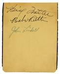 Babe Ruth Signed Autograph Book from His Last Over-The-Fence Homerun in Yankee Stadium with Additional Notable Player Signatures