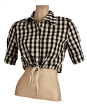 Taylor Swift July 4 Party Worn Black & White Check Crop Top