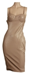 Jennifer Lopez American Idol TV Show Taping Worn Nude Leather Dress