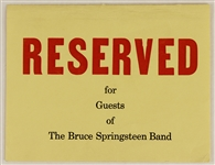 Bruce Springsteen Original Two-Sided Concert Table Tent Circa 1973