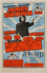 James Brown Original Apollo Theater Concert Poster Featuring Michael Jackson and Bruce Springsteen