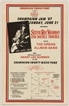 Stevie Ray Vaughan and Double Trouble Original 1987 Concert Poster