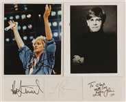 Elton John, Rod Stewart and Lionel Richie Signed Photos and Index Cards