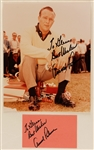 Arnold Palmer Signed & Inscribed Photograph and Signed Index Card