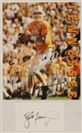 Peyton Manning Signed & Inscribed Photograph and Brett Favre Signed 3 x 5 index card
