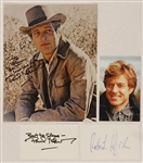 Paul Newman & Robert Redford Signed & Inscribed Photographs and Signed Cards