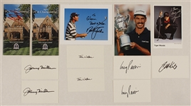Golf Legends Signed Photographs, Spectator Guides and Cards