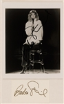 Barbra Streisand Signed Photograph and Card