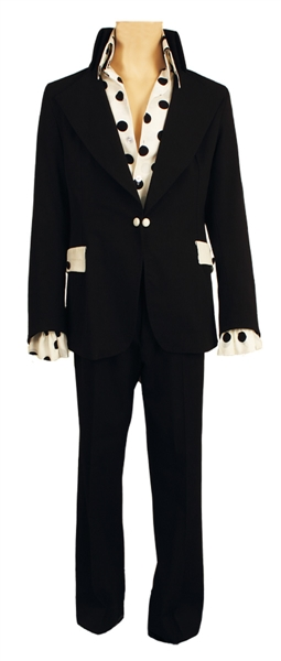 Elvis Presley Owned & Worn Bill Belew Custom Black Jacket with Matching Black Pants and Shirt