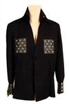 Elvis Presley Owned & Worn Bill Belew Custom Black Jacket with Leather Pockets and Cuffs