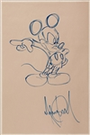 Michael Jackson Signed Original Mickey Mouse Drawing