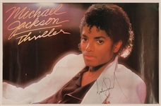 "Michael Jackson Signed ""Thriller"" Original Poster"