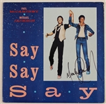 "Michael Jackson Signed ""Say, Say, Say"" 12"" Record Cover"