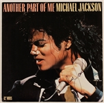 "Michael Jackson Signed ""Another Part of Me"" 12"" Record Cover"