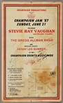Stevie Ray Vaughan Signed & Inscribed Original Concert Poster