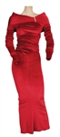 "Whitney Houston ""All The Man That I Need"" Stage and Screen Worn Maroon Velvet Gown"