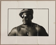 "Clarence Clemons Original Eric Meola ""Born to Run"" Eric Meola 20 x 16 Outtake Photograph Signed & Inscribed by Clemons to Bruce Springsteen"