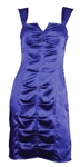 Kim Kardashian Owned & Worn Royal Blue Satin Dress