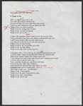 "Bruce Springsteen Hand Annotated ""Wages of Sin"" Lyrics"