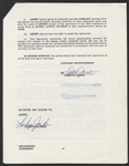 LaToya Jackson Signed Courtesy Entertainment Engagement Agreement for 1985 Tour
