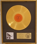 "Bruce Springsteen ""Born To Run"" Original RIAA Gold LP Record Album Floater Award Presented to Columbia Records"