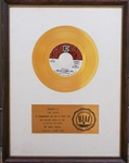 "The Doors ""Hello, I Love You"" Original RIAA White Matte 45 Gold Record Award Presented to The Doors"