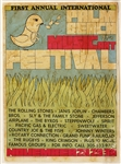 Palm Beach Music & Art Festival Original 1969 Concert Poster Featuring The Rolling Stones, Janis Joplin, Sly & The Family Stone, Jefferson Airplane and More