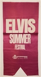 Elvis Presley Original Summer Festival International Hotel Las Vegas Original Banner