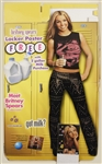 "Britney Spears ""Got Milk"" Original Cardboard Standee Display with Original Mini-Posters and Signed & Inscribed ""In The Zone"" C.D. Insert and Laminate"