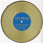 "Elvis Presley Original ""The Truth About Me!"" Promotional Cardboard 78rpm Record"