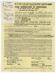 Jerry Lee Lewis Original 1965 Performance Contract