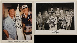 Beach Boys Mike Love and Bruce Johnston Signed Photographs (2) and Photograph
