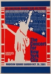 The Concert For New York City Original Poster Featuring Paul McCartney, Mick Jagger, Keith Richards and John Entwistle (His Last Concert)