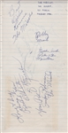 The Miracles and The Supremes 1965 Autographs from The Astoria