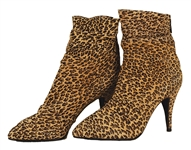 Janet Jackson Owned & Worn Suede Leopard Ankle Boots