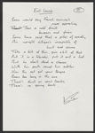 "Deep Purple Ian Gillen Handwritten & Signed ""Evil Louie"" Lyrics"