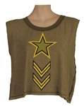 Beyoncé Instagram Worn Wildfox Couture Green Soldier Army T-Shirt