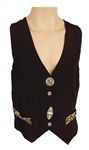 Michael Jackson Owned & Worn Black & Tan Vest