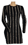 Beyoncé Sports Illustrated Sportsman of the Year Ceremony Stage Worn Silver & Black Velvet Mini Dress