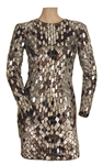 "Celine Dion ""Tonight Show"" Screen Worn Custom Mirror Dress"