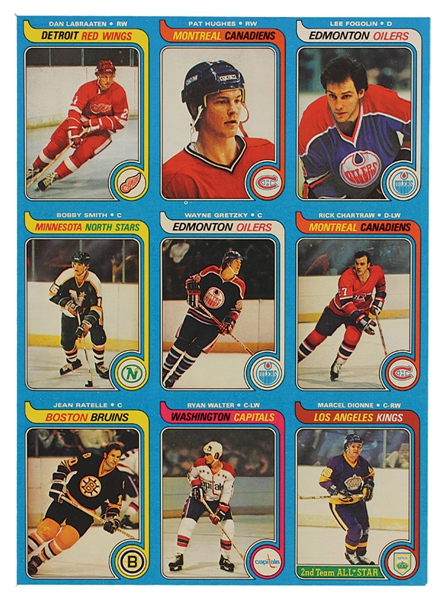 Lot Detail 1979 Topps Hockey Uncut Panel With Wayne