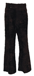 Elvis Presley Owned & Worn Black Faux Fur Pants
