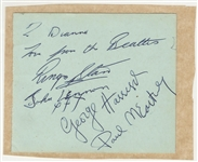 Beatles Signed & Inscribed Album Page